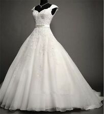 New White Ivory Wedding Dress Bridal Gown Ball STOCK Size 6 8 10 12 14 16