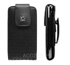 Premium Vertical Leather Belt Clip Holster Case Cover Pouch for BLU Cell Phones