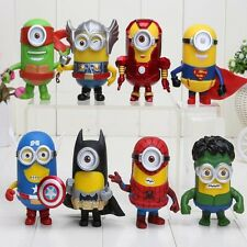 NEW Minion Super Hero Despicable Me Minions Movie Figures Doll Toy Gift 9cm UK