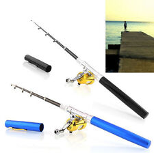 New Mini Aluminum Portable Pocket Pen Shape Fishing Fish Rod Pole + Reel Combo