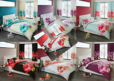 Duvet Cover with Pillow Case Quilt Cover Grace Printed Bedding Set UK Sizes