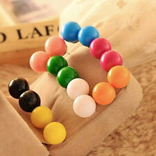Fashion 3 pair Lovely Cute Candy Colourful Disco Round Ball Earrings Ear Studs