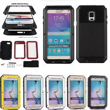 Newest Shockproof Waterproof Aluminum Gorilla Glass Case Cover For Galaxy Note 4
