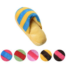 New Dog Toys Pet Puppy Toys Chew Squeaky Plush Slipper Shape Squeaker Sound Toy