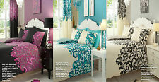New Saville Printed Duvet Quilt Cover With Pillow Case Bedding Set Sngl Dbl Kng