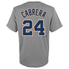 """Detroit Tigers Miguel Cabrera #24 Youth """"Jersey"""" T Shirt Size S 4 M 5/6"""