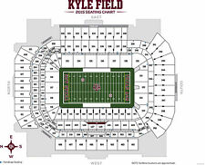 2 TEXAS A&M AGGIES v BALL STATE FOOTBALL TICKETS SECTION 329 ROW 9 ON 9/12