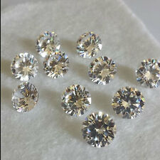 WHOLESALE 0.7-10MM CZ LOT AAAAA TOP QUALITY LOOSE WHITE ROUND CUBIC ZIRCONIA 5A