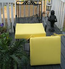 "Set of 2 ~ 21"" x 21"" Foam Cushion for Patio Dining Chair ~ Choose Solid Colors"