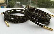 1Pair GOLD METAL TIP ROUND Shoelaces Boot Laces String Outdoor Hiking Gym Sports