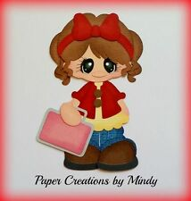 Craftecafe Mindy Fall School girl premade paper piecing scrapbook page album