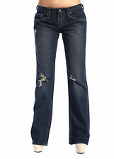 Stitch's Women Boot Cut Jeans Ripped Denim Bootcut Pants Casual Work Trouser