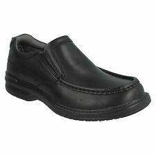 KEELER STEP MENS CLARKS LEATHER WIDE FITTING CASUAL SLIP ON MOCCASIN WORK SHOES
