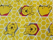 Disney Winnie the Pooh Honey Comb Quilting Fabric Fat Quarter By the Yard Cotton