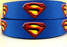 """1"""" Blue Superman superhero  ribbon-COMBINED SHIPPING OFFERED"""