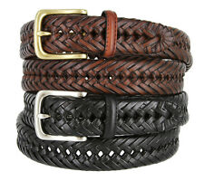 """Tommy Hilfiger - Mens Braided Leather Casual Dress Belt, 1-1/4"""" Wide"""