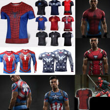Superhero Marvel 3D Comics Costume T-Shirt Cycling Fitness Gym Sport Men Top