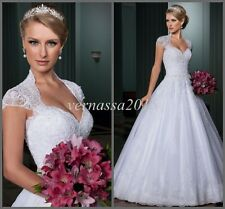 New White/Ivory Bridal Gown beach Wedding Dress stock size 6 8 10 12 14 16