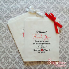 Personalised A Sweet Thank You I Do! White Paper Candy Buffet Lolly Bags x 50