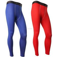 Mens Compression Base Layer Pants Tight Long Leggings Under Skin Sports Gear D61