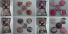 Boston Red Sox OR NY Yankees Earrings (5) prs in (1) set Magnetic Button Earring