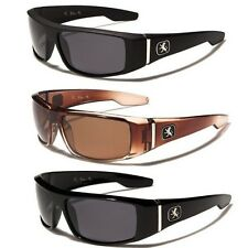 Khan Polarized Small Flat Top Fishing Hunting Golf Sports Wrap Around Sunglasses