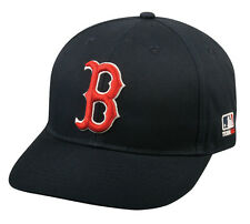 MLB BOSTON RED SOX Baseball HOME CAP Navy Blue HAT Velcro STRAP, YOUTH, ADULT
