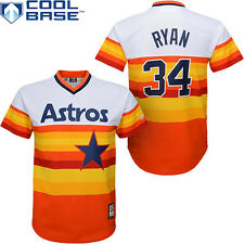 Houston Astros Nolan Ryan  Pull Over Orange Youth Jersey Size S M L XL