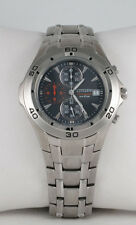 Citizen Men's Chronograph W.R. 100m Black Dial Stainless Steel Watch AN3340-58