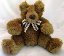 "Mary Meyer TEDDY BEAR Brown Tan 12"" Floppy Plush Squishy Stuffed Animal Toy 1994"