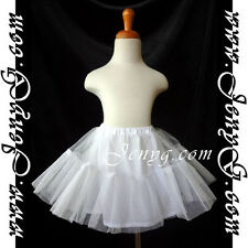 #U71 Petticoats Underskirts for Flower Girls/Formal/Pageant, White 0-16 Years