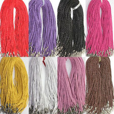 5/10/50 Pcs PU Leather Braid Rope Hemp Cord Lobster Clasp Chain Necklace 46CM