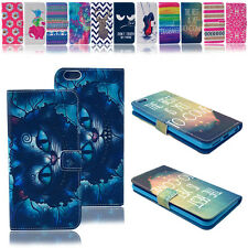 Printed Stand Card Slot Leather Magnetic Wallet Case Cover Flip For Apple iPhone