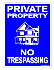 PRIVATE PROPERTY NO TRESPASSING 9x12 DRIVE ROAD PRIVATE KEEP OUT METAL ALUMINUM