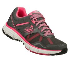 New! Skechers Womens Alignment Running Shoes-Style 11642-Gray/Hot Pink (93I)
