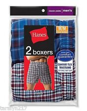 NEW MENS BOXERS HANES COMFORT FLEX PACK OF 2 NEW IN PKG LARGE OR XLARGE