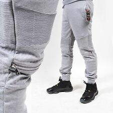 NEW Mens BIKER joggers pants French Terry slim style FASHION mens joggers