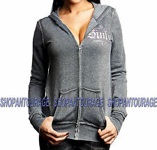 SINFUL Angel Wings S3558 New Women`s Burnout Track Jacket By AFFLICTION