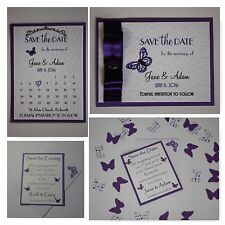 Handmade BUTTERFLY wedding : SAVE THE DATE; 3 designs, 60 colours/any qty