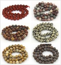 4-14mm Wholesale Natural Gemstone Round Loose Jasper  Spacer Beads Strand 15''