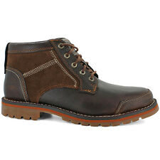 Timberland LARCHMONT CHUKKA Mens Red Brown Leather 9705A Lace Up Ankle Boots