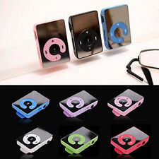 2015New Mirror Mini Clip MP3 Music Player Support 1-8GB Micro SD TF Memory Card