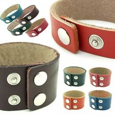 Surfer Bracelet Leather Slim or Wide Men Women Vintage Petrol Red Brown Green