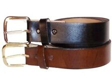 Men's Leather Dress Belt 1 3/8 sizes 34,36, 38, 40, 42, 44  !!MADE IN USA!!