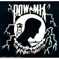 BLACK POW/MIA NOT FORGOTTEN IMPRINTED 1 SIDED T-SHIRT - Short Sleeve Tee