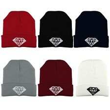 Fashion Men Women's New DIAMOND Hip-Hop Cap Beanies Winter Cotton Knit Wool Hats