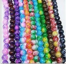 50 pcs 8mm Round Chic Glass Loose Spacer Bead Pick 18 Colors -1 Or Mixed DIY Y01