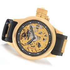 @NEW Invicta 52mm Russian Diver Mechanical Polyurethane Strap Watch 17265 gold