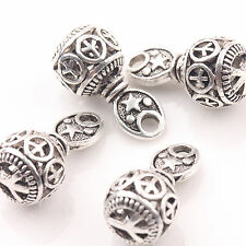 10/20Pcs Tibetan Silver Carved Hollow Pendants Charms 10*20mm Jewelry Findings