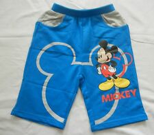 BLUE MICKEY head cotton blend summer BOTTOMS kid BOY short pants 3-12years